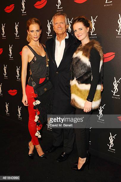 Poppy Delevingne, Charles Delevingne and Chloe Delevingne attend the YSL Beaute Makeup Celebration 'YSL Loves Your Lips' in the presence of Cara...