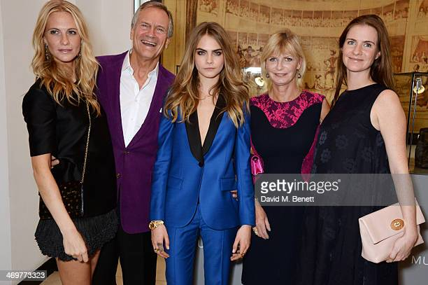 Poppy Delevingne Charles Delevingne Cara Delevingne Pandora Delevingne and Chloe Delevingne attend the Mulberry dinner to celebrate the launch of the...