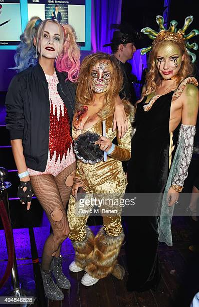 Poppy Delevingne Charlotte Emma Freud and Camilla Al Fayed attend The Unicef UK Halloween Ball raising vital funds to support Unicef's lifesaving...
