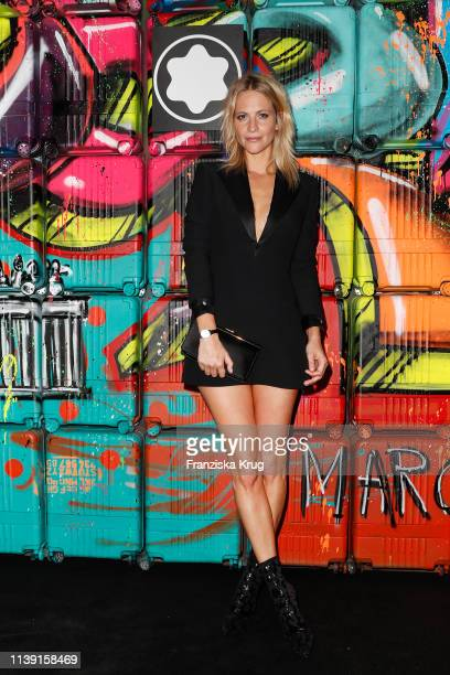 """Poppy Delevingne during the Montblanc launch event """"Reconnect To The World"""" at Metropol Theater on April 24, 2019 in Berlin, Germany."""