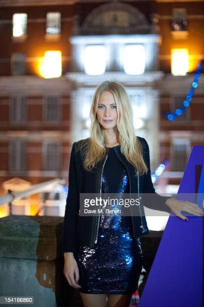 Poppy Delevingne hosts an event with Nicholas Coleridge to turn on a wool installation outside Harvey Nichols to launch Wool Week at Mandarin...
