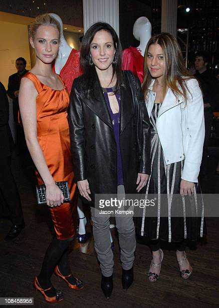Poppy Delevingne MaryLouise Parker and Dani Stahl attend the Karen Millen NYC Flagship Boutique launch party on March 11 2008 in New York City