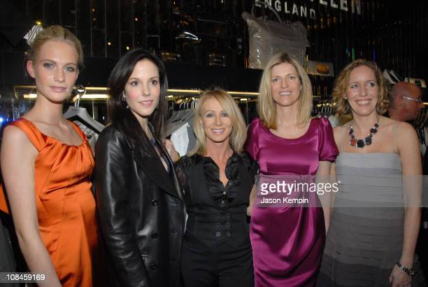 Poppy Delevingne MaryLouise Parker Karen Millen Lucy Sykes and Gemma Metheringham attend the Karen Millen NYC Flagship Boutique launch party on March...
