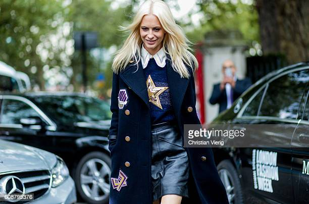 Poppy Delevingne outside Christopher Kane during London Fashion Week Spring/Summer collections 2017 on September 19 2016 in London United Kingdom