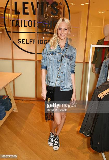 Poppy Delevingne poses at the Poppy Delevingne x Selfridges x Levi's Tailor Shop launch party at The Denim Studio on 3 at Selfridges on July 27 2016...