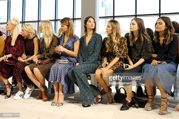 Poppy Delevingne Princess Olympia Alexandra Richards Hanneli Mustaparta Lily Aldridge Harley VieraNewton Laura Love and Atlanta de Cadenet attend the...