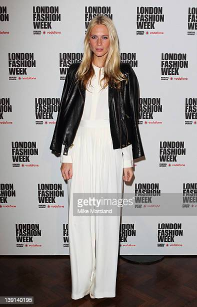 Poppy Delevingne promotes London Fashion Week Autumn/Winter 2012 at Embankment Gallery on February 17 2012 in London England