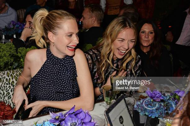 Poppy Delevingne Tori Cook and Fran Cutler attend the Annabel's Art Auction fundraiser in aid of Teenage Cancer Trust Teen Cancer America at...