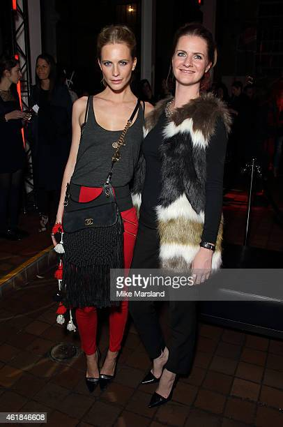 Poppy Delevingne,and Chloe Delevingne attend the YSL Beaute: YSL Loves Your Lips party at The Boiler House,The Old Truman Brewery, on January 20,...
