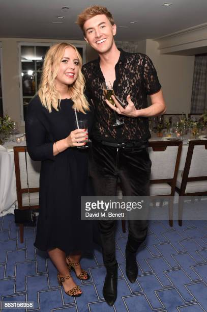 Poppy Deyes and Mark Ferris attend the launch of Tanya Burr's new book 'Tanya's Christmas' at Claridge's Hotel on October 19 2017 in London England