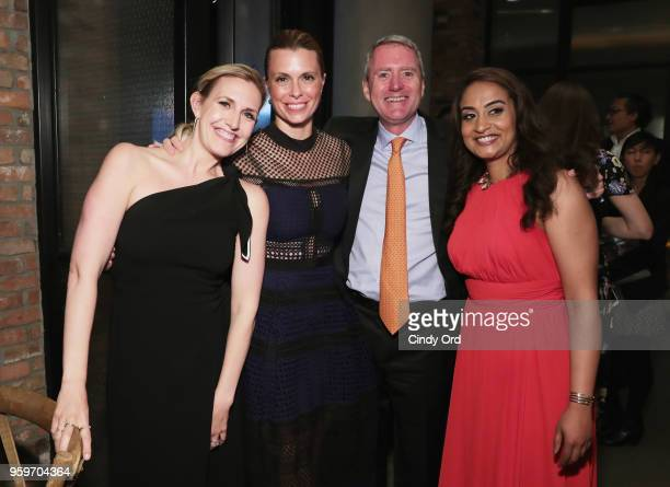 Poppy Harlow Amy Powell Room to Read Founder John Wood and Dr Geetha Murali attend the 2018 Room to Read New York Gala on May 17 2018 at Kimpton...