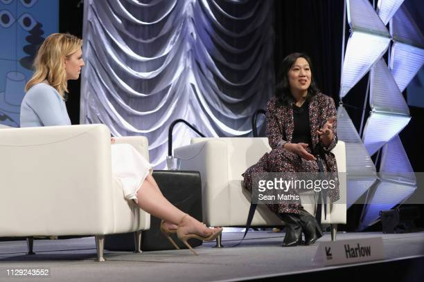 Poppy Harlow and Priscilla Chan speak onstage at Featured Session Priscilla Chan during the 2019 SXSW Conference and Festivals at Hilton Austin on...
