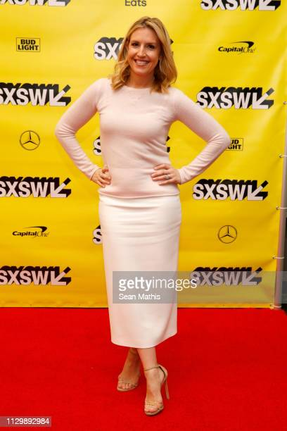 Poppy Harlow attends Featured Session Gwyneth Paltrow with Poppy Harlow during the 2019 SXSW Conference and Festivals at Austin Convention Center on...