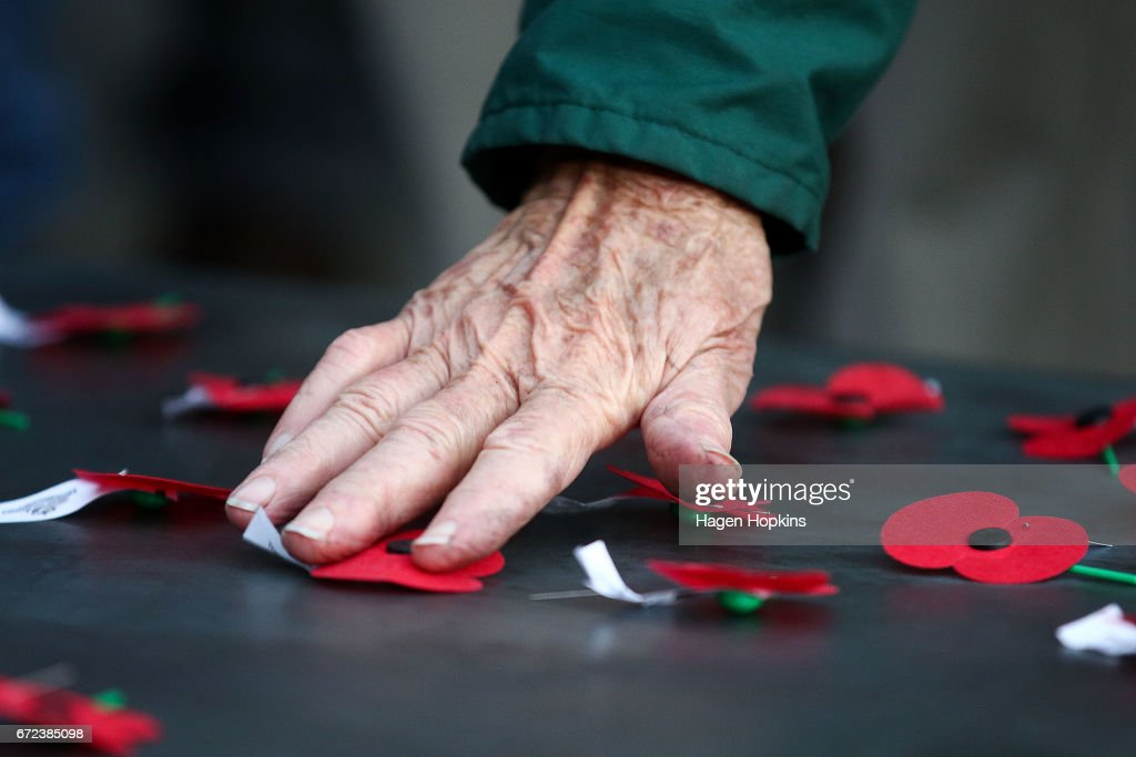 A poppy is laid on the Tomb of the Unknown Warrior during Anzac Day dawn service at Pukeahu National War Memorial Park on April 25, 2017 in Wellington, New Zealand. In 1916 the first Anzac Day commemorations were held on 25 April. It's been 101 years since the Australian and New Zealand Army Corp (ANZAC) landed on the shores of Gallipoli during World War 1. Anzac day is a national holiday in New Zealand, marked by a dawn service held during the time of the original Gallipoli landing and commemorated with ceremonies and parades throughout the day.
