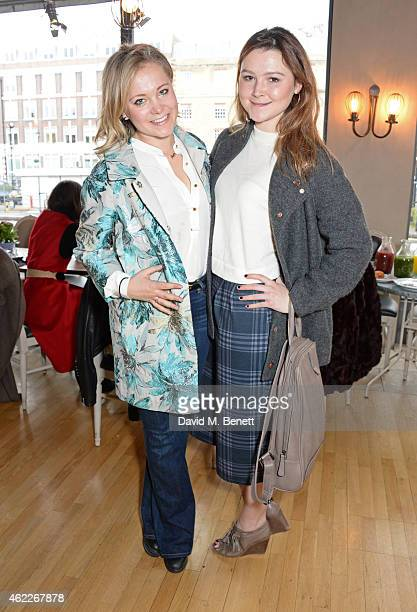Poppy Jamie and Amber Atherton attend 'Affirmation Mondays' hosted by Poppy Jamie and Greta Bellamacina at Aubaine on January 26 2015 in London...