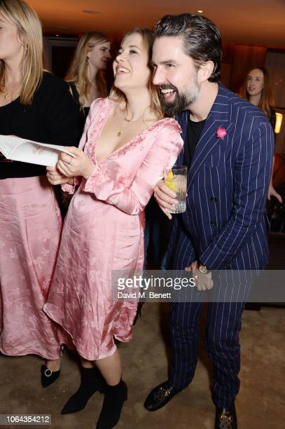 Poppy Jamie and Jack Guinness attend Alexa Chung's CHUNGSGIVING dinner to celebrate Thanksgiving and the launch of her exclusive ALEXACHUNG holiday...