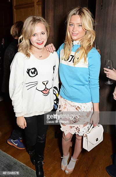 Poppy Jamie and Laura Whitmore attend as Details x CaselyHayford celebrate London Collections Men in the Punch Room at the London Edition on January...