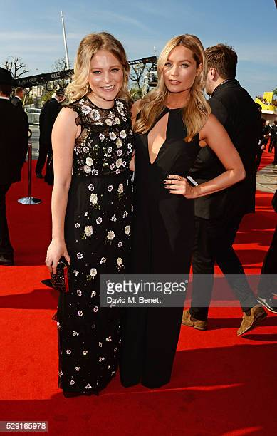 Poppy Jamie and Laura Whitmore attend the House Of Fraser British Academy Television Awards 2016 at the Royal Festival Hall on May 8 2016 in London...