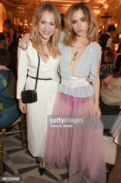 Poppy Jamie and Suki Waterhouse attend the Lady Garden Gala in aid of Silent No More Gynaecological Cancer Fund and Cancer Research UK at Claridge's...