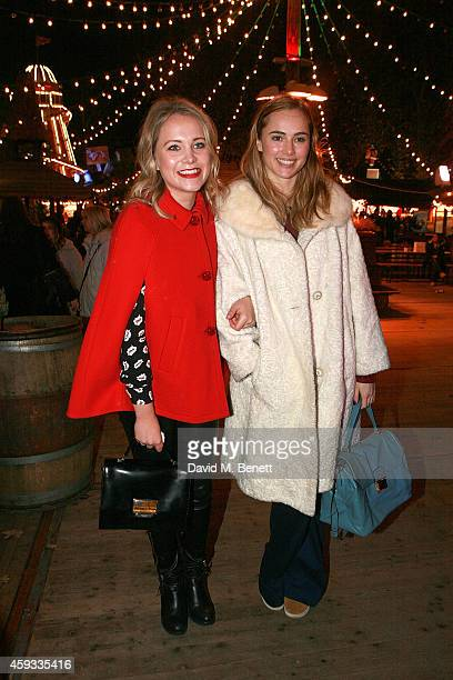 Poppy Jamie and Suki Waterhouse attend the Winter Wonderland VIP opening at Hyde Park on November 20 2014 in London England