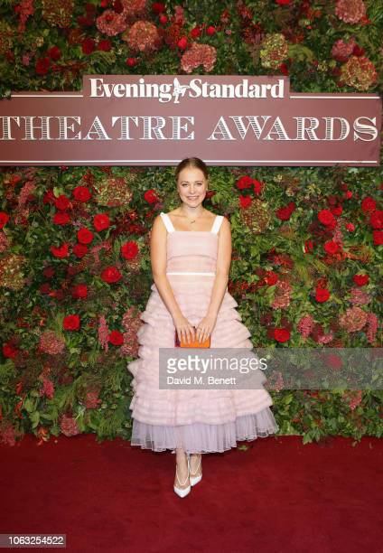 Poppy Jamie arrives at The 64th Evening Standard Theatre Awards at the Theatre Royal Drury Lane on November 18 2018 in London England