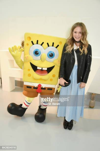 Poppy Jamie attends Nickelodeon's SpongeBob Gold launch party at LFW in collaboration with the LFW Design collective Pete Jenson Bobby Abley Salar...