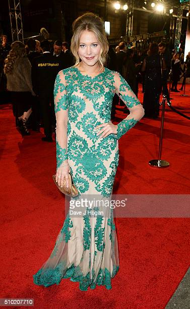 Poppy Jamie attends the EE British Academy Film Awards at The Royal Opera House on February 14 2016 in London England