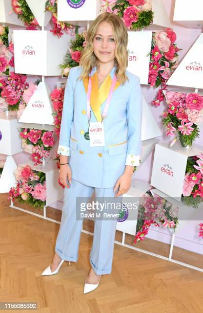 Poppy Jamie attends the evian Live Young suite at The Championships Wimbledon 2019 on July 11 2019 in London England