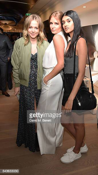 Poppy Jamie Millie Mackintosh and Neelam Gill attend the RIMOWA London concept store VIP launch party on June 29 2016 in London England