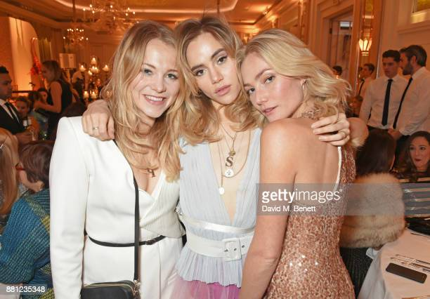 Poppy Jamie Suki Waterhouse and Clara Paget attend the Lady Garden Gala in aid of Silent No More Gynaecological Cancer Fund and Cancer Research UK at...