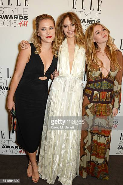 Poppy Jamie Suki Waterhouse and Immy Waterhouse attend The Elle Style Awards 2016 on February 23 2016 in London England