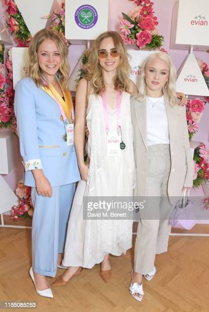 Poppy Jamie Suki Waterhouse and Zara Larsson attend the evian Live Young suite at The Championships Wimbledon 2019 on July 11 2019 in London England