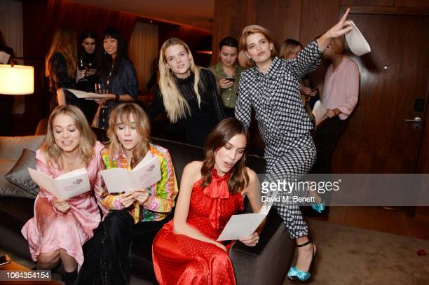 Poppy Jamie Suki Waterhouse Gabriella Wilde Alexa Chung and Pixie Geldof wearing ALEXACHUNG attend Alexa Chung's CHUNGSGIVING dinner to celebrate...