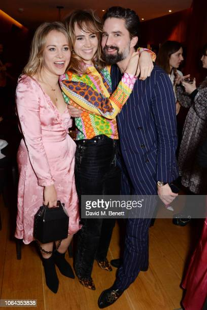 Poppy Jamie Suki Waterhouse wearing ALEXACHUNG and Jack Guinness attend Alexa Chung's CHUNGSGIVING dinner to celebrate Thanksgiving and the launch of...