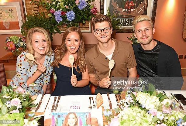 Poppy Jamie Tanya Burr Jim Chapman and Marcus Butler attend an intimate dinner hosted by Tanya Burr to launch her first cookbook 'Tanya Bakes' at...