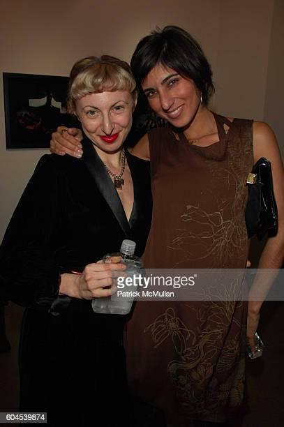 Poppy King and Rita Nakouzi attend Mikhail Baryshnikov hosts InterCourse Photographs by Eikoh Hosoe at 401 Projects on November 4 2006 in New York