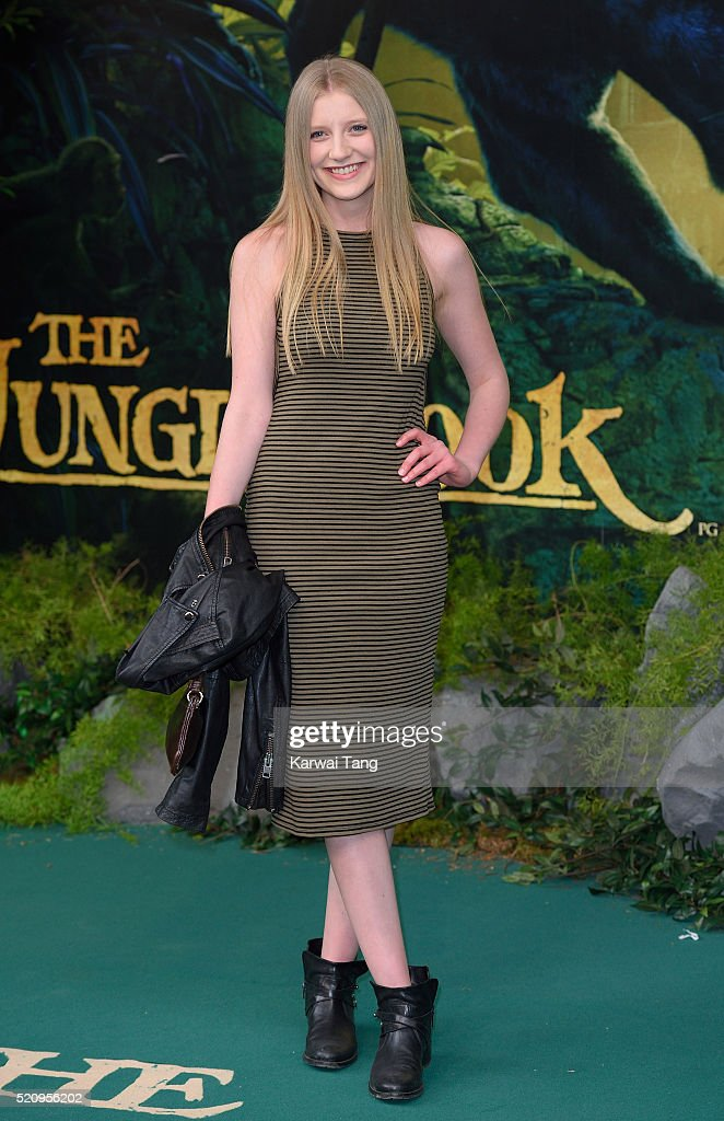 Poppy Lee Friar arrives for the European premiere of 'The Jungle Book' at BFI IMAX on April 13, 2016 in London, England.