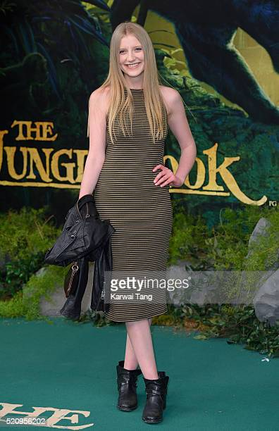 Poppy Lee Friar arrives for the European premiere of 'The Jungle Book' at BFI IMAX on April 13 2016 in London England
