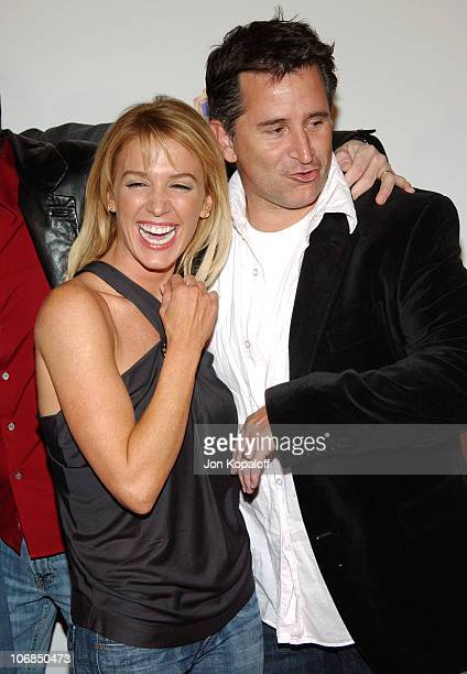 Poppy Montgomery and Anthony LaPaglia during Warner Bros Television and Warner Home Video Celebrate 50 Years Of Quality TV Arrivals at Warner Bros...