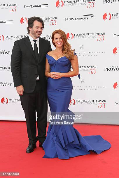 Poppy Montgomery and husband Shawn Sanford attend the 55th Monte Carlo TV Festival Opening Ceremony at the Grimaldi Forum on June 13 2015 in...