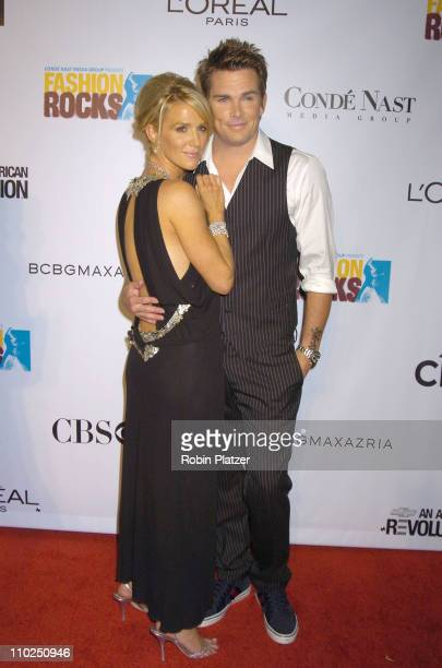Poppy Montgomery and Mark McGrath during 2005 Fashion Rocks - Red Carpet at Radio City Music Hall in New York City, New York, United States.