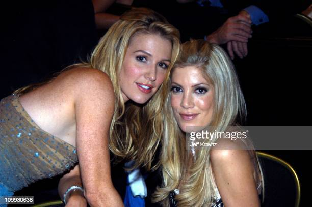 Poppy Montgomery and Tori Spelling during The Lili Claire Foundation's 6th Annual Benefit Hosted by Matthew Perry Show Audience and Backstage at The...