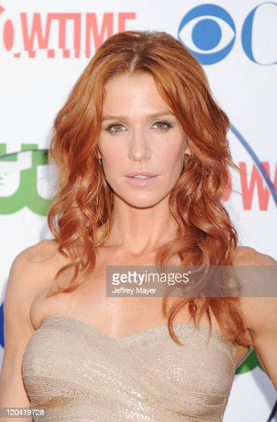 Poppy Montgomery arrives at the TCA Party for CBS The CW and Showtime held at The Pagoda on August 3 2011 in Beverly Hills California