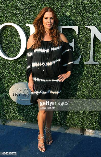 Poppy Montgomery attends day two of the 2015 US Open at USTA Billie Jean King National Tennis Center on September 1 2015 in the Flushing neighborhood...