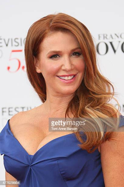 Poppy Montgomery attends the 55th Monte Carlo TV Festival Opening Ceremony at the Grimaldi Forum on June 13 2015 in MonteCarlo Monaco