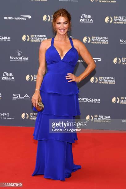 Poppy Montgomery attends the opening ceremony of the 59th Monte Carlo TV Festival on June 14 2019 in MonteCarlo Monaco