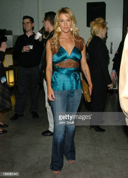 Poppy Montgomery during CBS and UPN Winter Press Tour Party Inside at Quixote Photo Studios in West Hollywood California United States