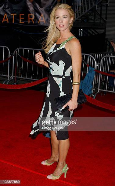 Poppy Montgomery during Collateral Los Angeles Premiere Arrivals at Orpheum Theatre in Los Angeles California United States