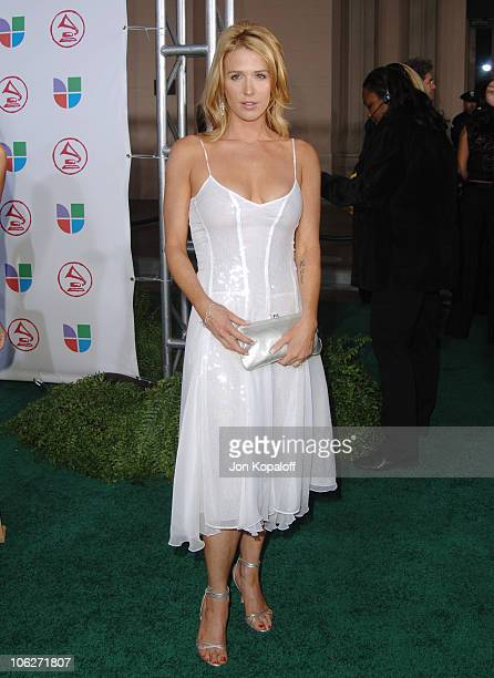 Poppy Montgomery during The 6th Annual Latin GRAMMY Awards Arrivals at Shrine Auditorium in Los Angeles California United States