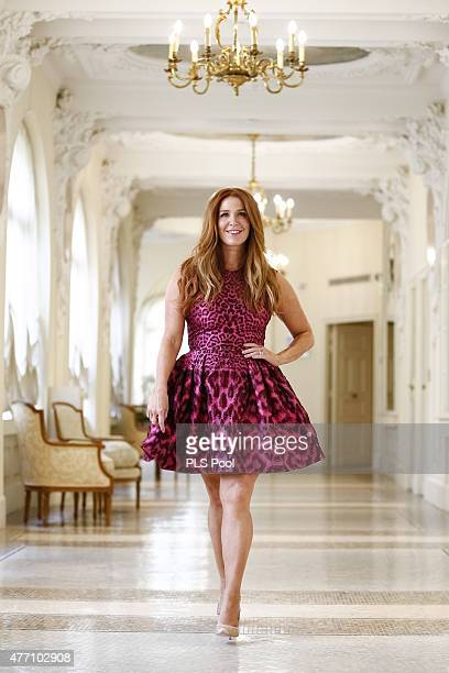 Poppy Montgomery poses at a photocall for the TV series 'UNFORGETTABLE' during the 55th Monte Carlo TV Festival on June 14 2015 in MonteCarlo Monaco